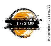 grunge off road post and... | Shutterstock .eps vector #785546713