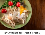 galette complete. crepes with... | Shutterstock . vector #785547853