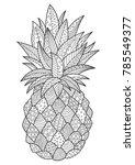 vector doodle coloring book...   Shutterstock .eps vector #785549377