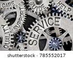 macro photo of tooth wheel...   Shutterstock . vector #785552017