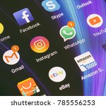 adygea  russia   january 2 ... | Shutterstock . vector #785556253