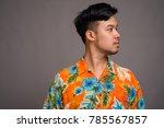 studio shot of young asian...   Shutterstock . vector #785567857