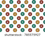 play icons. vector background. | Shutterstock .eps vector #785575927