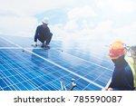 engineer team working on... | Shutterstock . vector #785590087