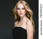 long blonde hair model woman... | Shutterstock . vector #785590327