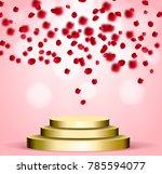 business presentation podium of ... | Shutterstock .eps vector #785594077