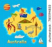australia map design.... | Shutterstock .eps vector #785594833