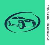logo car wash vector... | Shutterstock .eps vector #785597017