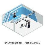 isometric interior composition... | Shutterstock . vector #785602417