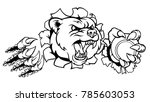 a bear angry animal sports... | Shutterstock . vector #785603053