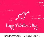 valentine card graphic design... | Shutterstock . vector #785610073