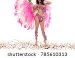 bright woman in carnival... | Shutterstock . vector #785610313