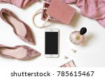 fashion feminine blogger... | Shutterstock . vector #785615467