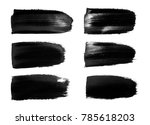vector black paint  ink brush... | Shutterstock .eps vector #785618203