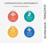 corporate social responsibility ... | Shutterstock .eps vector #785622937