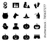 origami style icon set   baby... | Shutterstock .eps vector #785637277
