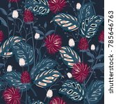 trendy  floral pattern in the... | Shutterstock .eps vector #785646763
