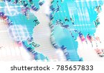 3d illustration of map and... | Shutterstock . vector #785657833