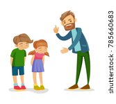young angry caucasian white... | Shutterstock .eps vector #785660683