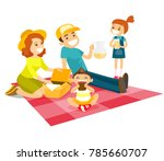 young caucasian white family... | Shutterstock .eps vector #785660707