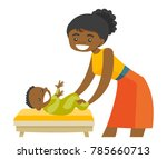 young african american mother...   Shutterstock .eps vector #785660713