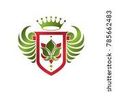 vintage heraldic insignia made... | Shutterstock .eps vector #785662483