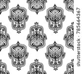 ethnic pattern with hamsa | Shutterstock .eps vector #785664367