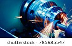 machine tool in metal factory... | Shutterstock . vector #785685547