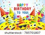 happy birthday background 3d... | Shutterstock .eps vector #785701807