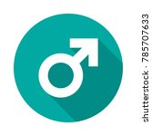 male sex symbol circle icon... | Shutterstock .eps vector #785707633