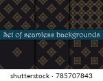 seamless background with... | Shutterstock .eps vector #785707843