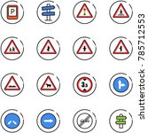 line vector icon set   parking... | Shutterstock .eps vector #785712553