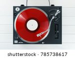 turntable vinyl record player... | Shutterstock . vector #785738617