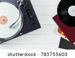 cd player with cd      | Shutterstock . vector #785755603