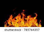 fire flames on black background. | Shutterstock . vector #785764357