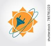 sun energy logo. solar power... | Shutterstock .eps vector #785781223