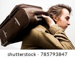 young handsome man holding...   Shutterstock . vector #785793847