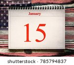 january 15 in the calendar on... | Shutterstock . vector #785794837