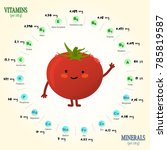 vitamins and minerals of tomato.... | Shutterstock .eps vector #785819587