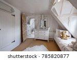 beautifully decorated bedroom... | Shutterstock . vector #785820877