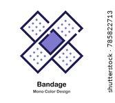 bandage mono color icon | Shutterstock .eps vector #785822713