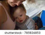 portrait of cute baby boy with... | Shutterstock . vector #785826853