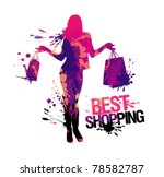 Shopping Woman Silhouette.best...