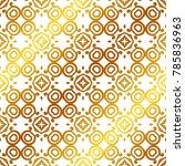 retro ornamental golden... | Shutterstock .eps vector #785836963