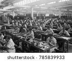 workers assembling condensers... | Shutterstock . vector #785839933