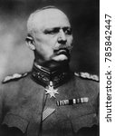 Small photo of General Erich Ludendorff, military and defacto political leader of Germany during World War 1. After the war he blamed Germanys defeat on betrayal by Marxists and Bolsheviks. He tried to persuade the
