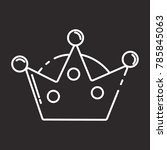 crown icon flat black | Shutterstock .eps vector #785845063