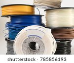 filament for 3d printing | Shutterstock . vector #785856193