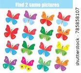 find the same pictures children ... | Shutterstock . vector #785858107