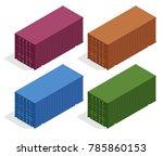 isometric vector large metal... | Shutterstock .eps vector #785860153